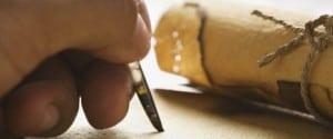 Writing away...